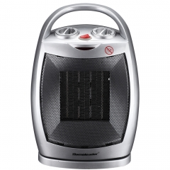 Homeleader Ceramic Space Heater 750W/1500W, Portable Electric Heater with Adjustable Thermostat, Tip-Over & Overheating Protection, Perfect for Home a
