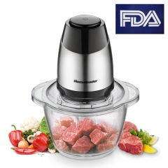 Homeleader Food Chopper, Meat Grinder, Electric Food Processor Blender Mincer for Meat, Vegetables, Fruits and Nuts with 1.2L Glass Bowl, Stainless St
