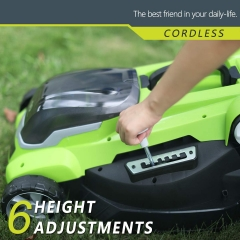 Best Partner 40V Max Lithium Cordless Lawn Mower,16-Inch,4.0AH Battery and Charger Include