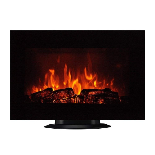 "Homeleader 35"" Electric Fireplace Heater, with Remote Control, Wall Mounted and Freestanding Fireplace, Space Heater, 1500W, Black"