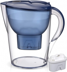 Homeleader Water Filter Pitcher, 3.5L Purifier with Electronic Filter Indicator, 1 Standard Filters, BPA Free, Technology for Superior Filtration & Ta