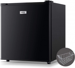 WANAI Upright Freezer 1.1 Cubic Feet Compact Single Door Vertical Freezer