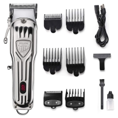 BOLUONI Mens Hair Clipper Professional Hair Trimmer Barber Clipper Set with Detailed Trimmer Cordless Haircut Grooming Kit USB Rechargeable LED Displa