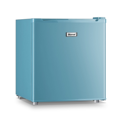 WANAI compact refrigerator, classic retro refrigerator, single door mini refrigerator, suitable for dormitory garage camper basement and office